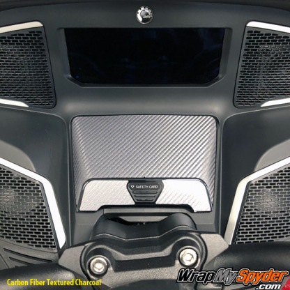 2020-BRP-Can-am-Spyder-RT-glove-box-carbon-fiber-Textured-Charcoal