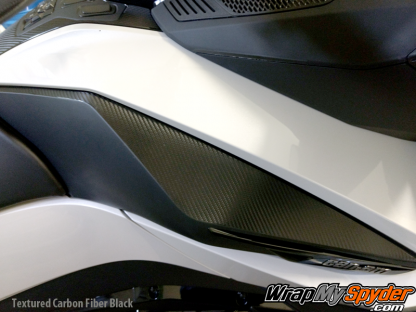 2020+ BRP Can-am Spyder-RT-Knee-panel-textured-carbon-fiber-Black