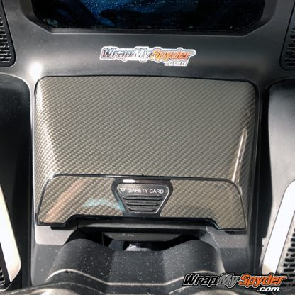 2020 Can-am Spyder RT Glove Box protector gloss carbon fiber