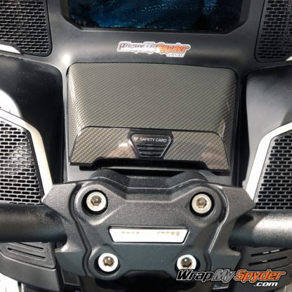 2020 Spyder RT Glove Box cover gloss carbon fiber