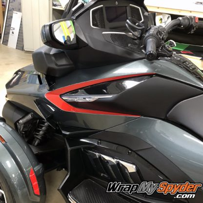 2020 Spyder RT side panel Insert stripe Boomerang Red