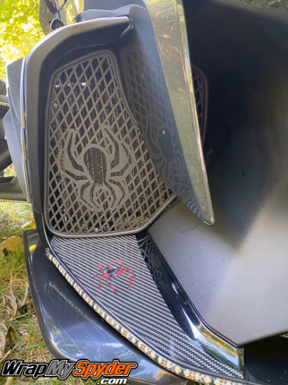 2020+BRP-Can-am-Spyder-RT-Air-dam-with-Red-Spyder-over-digital-carbon-fiber
