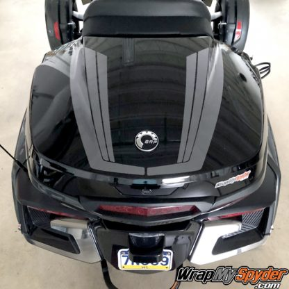 BRP Can-am Spyder Tour Top Case Tri-Wing Racing Stripe kit
