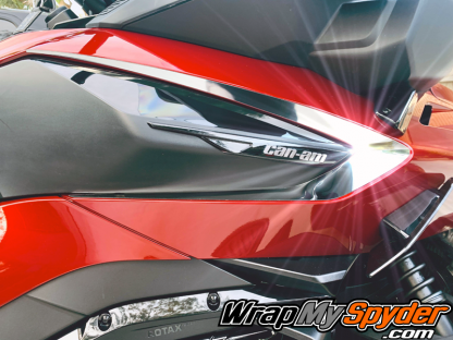 2020+ BRP Can-am Spyder RT- RT Limited Boomerang chrome side insert kit