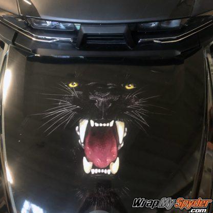 2020 BRP Can-am Spyder RT frunk wrap Panther Bite pre-cut kit