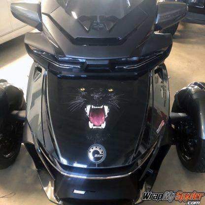 2020 BRP Can-am Spyder RT frunk wrap Panther Bite