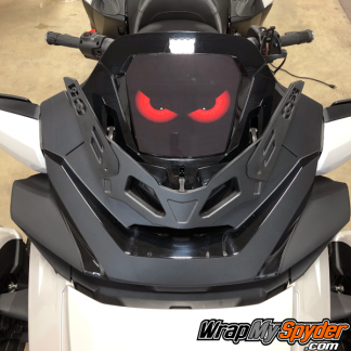 2020-Spyder-RT-Windshield-Plate-logo-Evil-Eyes