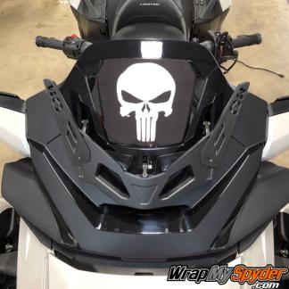 2020-Spyder-RT-Windshield-Plate-logo-Punisher-Skull