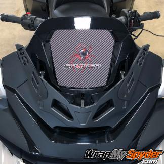 2020-Spyder-RT-Windshield-Plate-logo-Red-Spider