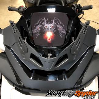 2020+-Spyder-RT-Windshield-Plate-logo-Dargon-Fire