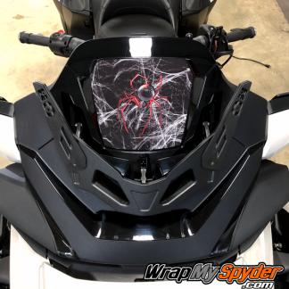 2020+-Spyder-RT-Windshield-Plate-logo-Red-Spider-over-web