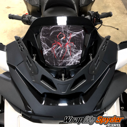 2020+-Spyder-RT-Windshield-Plate-logo-Red-Spider-over-web