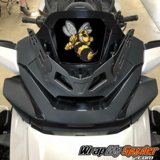 2020-Spyder-RT-Windshield-Plate-logo-Angry Bee