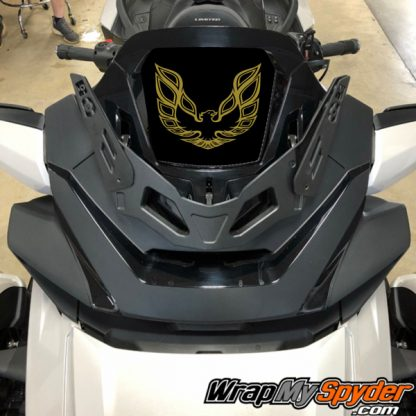 2020-Spyder-RT-Windshield-Plate-logo-Screaming Chicken