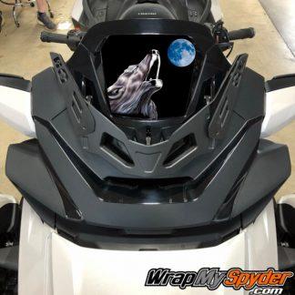 2020-Spyder-RT-Windshield-Plate-logo-wolf moon