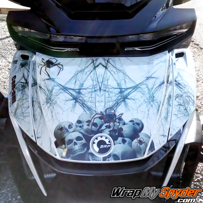 2020+BRP Can-am Spyder RT Limited-Widows-Dinner-frunk wrap kit sold as DIY. produced on transparent film.