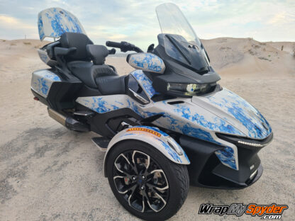 2020+ BRP Can-am Spyder RT Limited full body Ghost Flame kit Blue