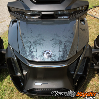 2020+ BRP Can-am Spyder-RT-Ghost-flame frunk-wrap kit