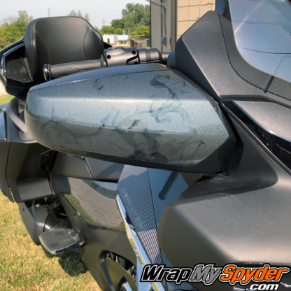 2020+-BRP Can am Spyder-RT-Ghost-flames-on-side-mirror section