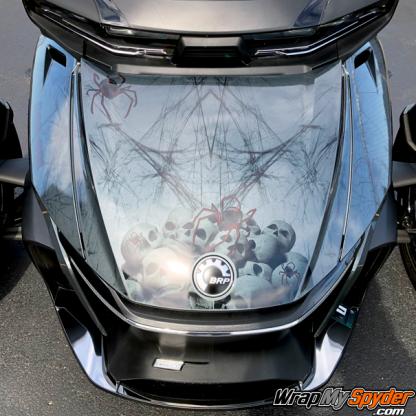 2020+ Can-am Spyder RT wrap-kit Skulls and webs Widows-Dinner