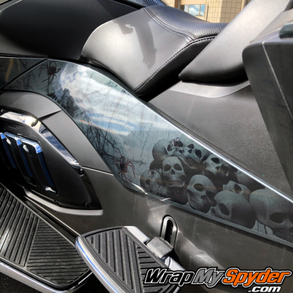 2020+BRP Can-am Spyder-RT-Limited-Widows-Dinner-full-body-wrap-with-skulls-and-webs