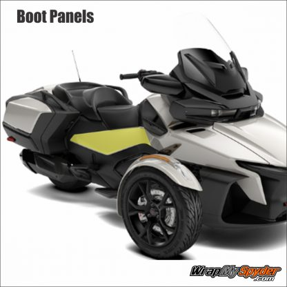 2020 BRP Can-am Spyder RT Paint Protection Boot Panels. Stop all those kick marks and scratches from your pants.
