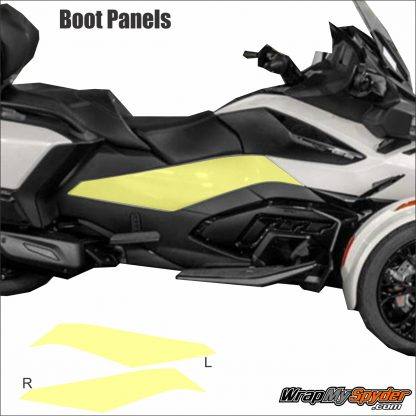 2020 BRP Can-am Spyder RT Paint Protection Boot Panels