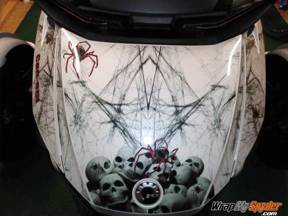 2020+BRP Can-am Spyder RT-Widows-Dinner-frunk-kit-mounted-on-Chalk