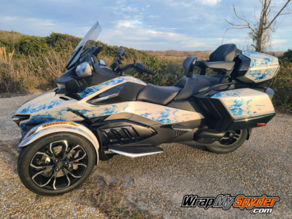 2021-Can-am-Spyder-RT-Limited-Ghost-Flame-kit-pre-cut-kit-Blue-ghost-flames