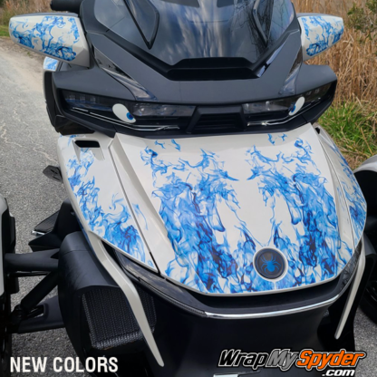 2021-Can-am-Spyder-RT-Limited-Ghost-Flames-Blue-tone-pre-cut-kit