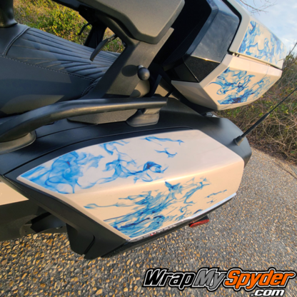 2021-Can-am-Spyder-RT-Limited-Ghost-Flames-Blue-tone-saddlebags-top-case-not-part-of-kit
