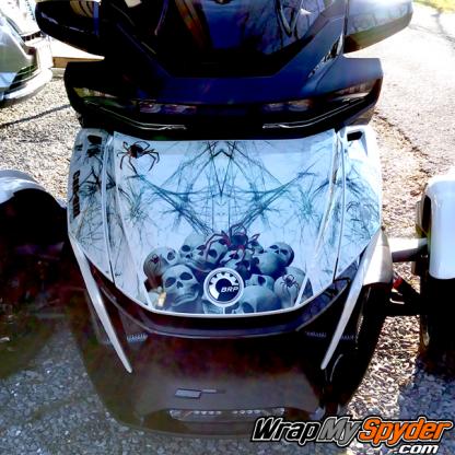 2020+BRP Can-am Spyder RT Limited-Widows-Dinner-frunk wrap kit sold as DIY