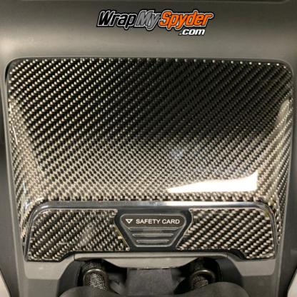 2020+-Can-am-Spyder-RT---RT-Limited-Real-Carnbon-Fiber-Domed-Glove-box-kit