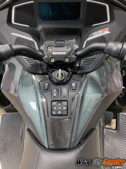 2020+-BRP-Can-am-Spyder-RT---RT-Limited-3D-Domed-Real-Carbon-Fiber-Switch-Panel