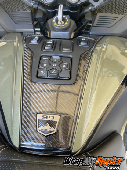 Can-am-Spyder-RT-RT-Limited-Sea-to-Sky-Edition-3D-Domed-Switch-Panel-emblem-removed-and-resinstalled