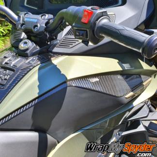 Spyder RT Limited Sea to Sky 3D Domed Knee Panel kit Real Carbon Fiber