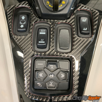 2020+-Can-am-Spyder-RT--RT-Limited-3D Domed Control-panel-Real-Carbon-Fiber