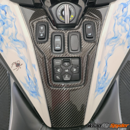 BRP Can-am Spyder RT/RT Limited real carbon fiber Control panel - Switch panel together
