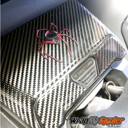 Red-Spider-over-3D-Domed--Real-Carbon-Fiber-Glove-Box