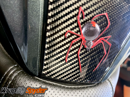 Red-Spider-over-3D-Domed--Real-Carbon-Fiber-Switch-Panel