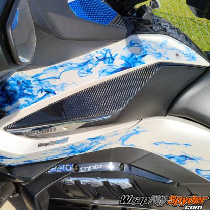 Real-Carbon-Fiber-Knee-Panels-Domed-3D-for-Spyder-RT-RT-Limited-2020-21