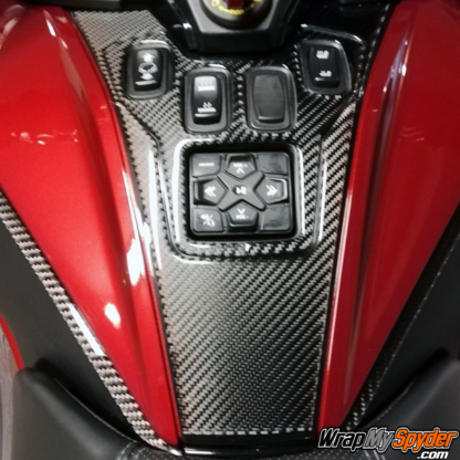 BRP-Can-am-Spyder-RT-Switch-Panel---Control-Panel-3D-Domed-Real-Carbon-Fiber