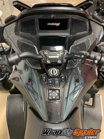 2020-21-Can-am-Spyder-RT-25-piece-real-carbon-fiber-dash accent-kit