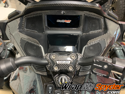 2020-21 +BRP Can-am-Spyder-RT-25-piece-real-carbon-fiber-full-dash-kit