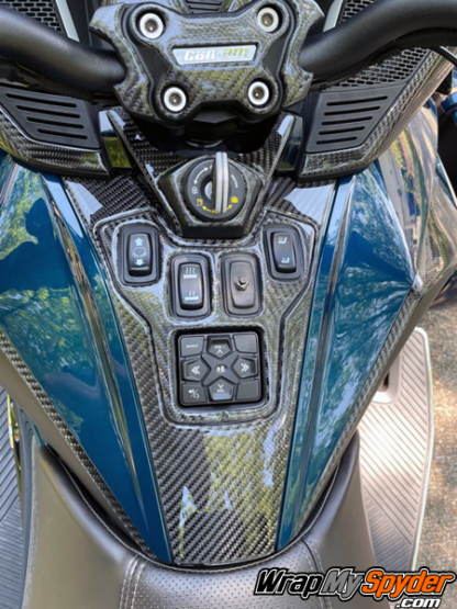 2020-21-BRP-Can-am-Spyder-RT-25-piece-real-carbon-fiber-dash-kit