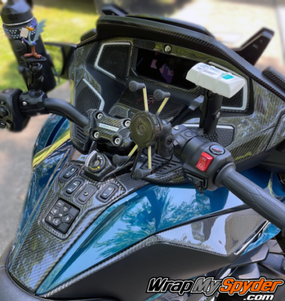2020-21-Can-am-BRP-Spyder-RT-RT-Limited-25-piece-real-carbon-fiber-accent-dash-kit-and-scratch-protection
