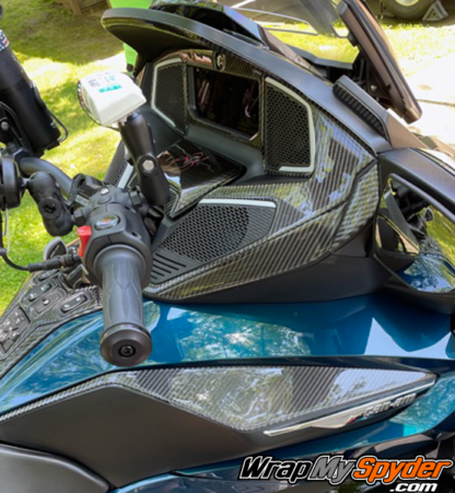 2020-21-Can-am-Spyder-RT-RT-Limited-25-piece-real-carbon-fiber-dash-accent-kit