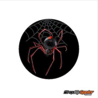 RED Widow crawler can-am spyder emblem cover decal overlay