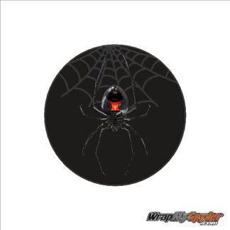 BRP Can-am Spyder emblem cover overlay decal Black Widow Creeper.