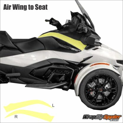 2020+ BRP Can-am Spyder RT Xpel Paint Protection Air Wing to Seat
